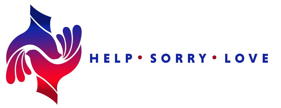 Help. Sorry. Love.